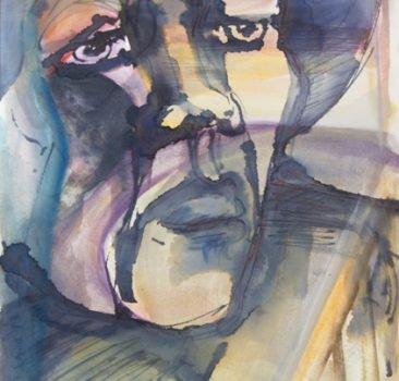 Männerkopf, rechts blickend